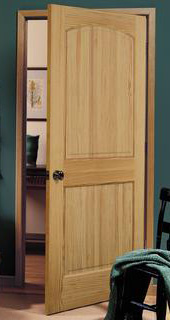 sustainable pine bedroom door